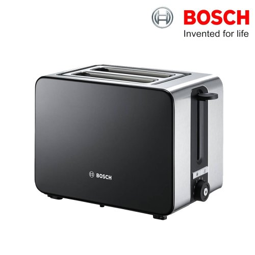 Bosch TAT7203GB Sky 2-Slice Toaster 900W Black/Silver With 7-Heat Settings