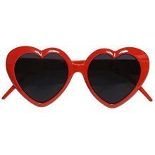 Glasses Lolita Disguise Novelty Glasses Specs & Shades For Fancy Dress Costumes -  glasses lolita heart fancy dress red accessory valentines love