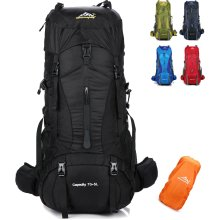 onyorhan 70L+5L Backpack Travel Trekking Hiking Camping Climbing  Mountaineering Rucksack for Men Women (Black) 2d48cbb92190d