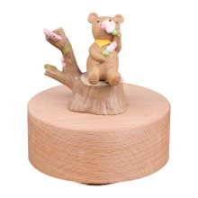 Personalizable Bear Musical Box Melody Carrying You from Castle in the Sky