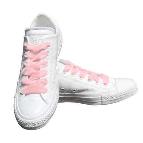 Pale Pink Velvet Ribbon Shoelaces Ideal For Converse Vans