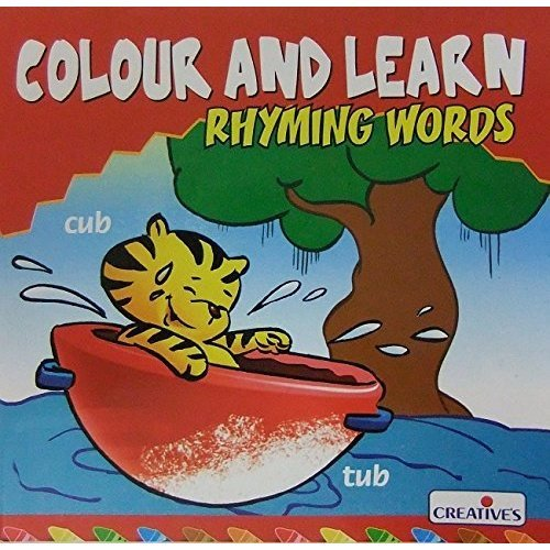 Creative Books - Colour N Learn-rhyming Words - (cre0572) - Cre0572 Learnrhyming -  cre0572 creative books colour n learnrhyming words