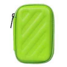 Rectangle Earphone/Cable Organizer Carrying Case Earphone Storage Bag, Green