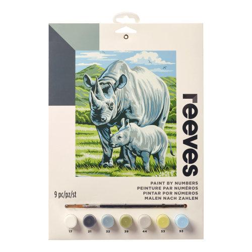 Reeves Painting By Numbers-Black Rhino