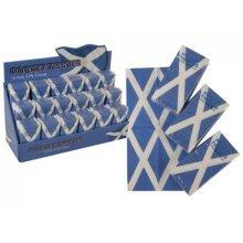 Pack Of 10 Scotland Pocket Tissues - Scottish Flag Patriotic Gift Serviettes - Scotland Pocket Tissues Scottish Flag Patriotic Gift Serviettes Napkins
