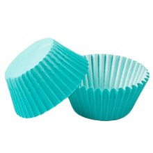 500PCS Lovely Baking Paper Cups Cupcakes Cases Cupcakes Cup, Light Blue