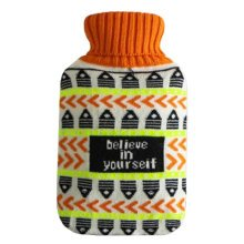Warm Cute Hot-Water Bottle Water Bag Water Injection Handwarmer Pocket Cozy Comfort,P