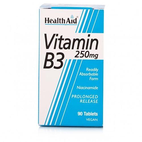 Healthaid Vitamin B3 (niacinamide) 250mg - Prolonged Release    Tablets  90