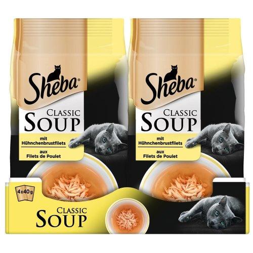 Sheba Cat Food Classic Soups, 12-Pack (12x 4x 40g)