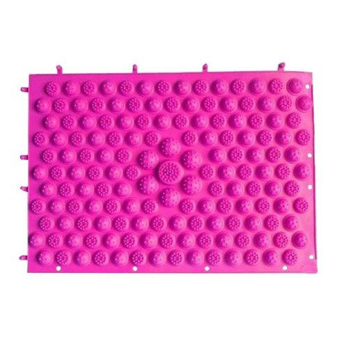 Set of 2 Foot Massager Therapy Mat Foot Massage Pad Shiatsu Sheet [Pink]