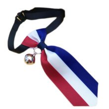 England Style Pet Collar Tie Adjustable Bowknot Cat Dog Collars with Bell-B07