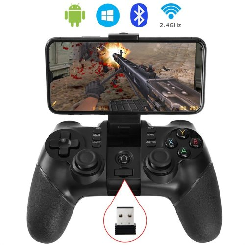allcaca Bluetooth Game Controller Wireless Gamepad Rechargeable Phone Controller, Compatible with Android Phone, Tablet, TV, TV Box, Black (Not for...