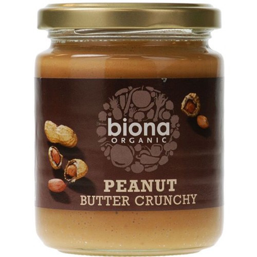 Biona Peanut Butter Organic Crunchy/ with Sea Salt 500g