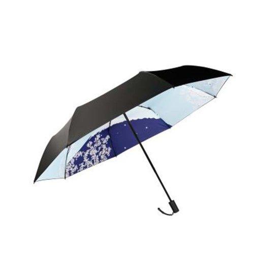 Japanese Style Sunscreen Sun And Rain Umbrella Folding Umbrella, Inside Flower