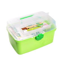 "[GREEN] Creative Large Portable First Aid Kit Travel Medical Box, 11.8""x7.3"""