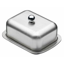 Double Walled Insulated Butter Dish And Cover - Deep Master Class Covered -  insulated butter dish deep double walled master class covered stainless