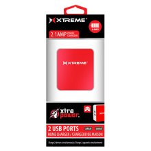 Xtreme 2 Port 2.1Amp Home Charger