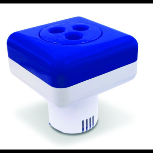 Square Large Swimming Pool and Spa Floating Chemical Dispenser (200g Chlorine or Bromine Tablets)