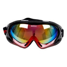 Snow Goggles Windproof Eyewear Ski Sports Goggle Protective Glasses Black/Red