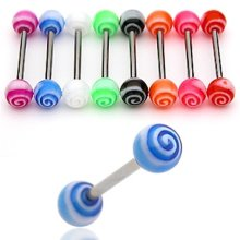 Urban Male Pack Of Eight Surgical Stainless Steel Body Piercing Straight Barbells Tornado