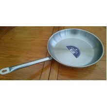 Contacto Professional Quality Stainless steel 32cm Satin Polished Frying Pan