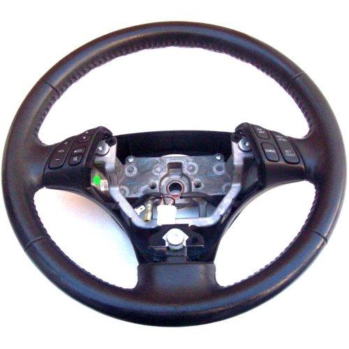 Mazda 6 3 Spoke Black Leather Multi Function Steering Wheel GP9A