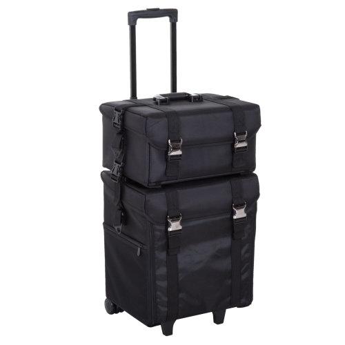 HOMCOM Make-up Bag 2-in-1, 40Lx30Dx72.5H cm-Black