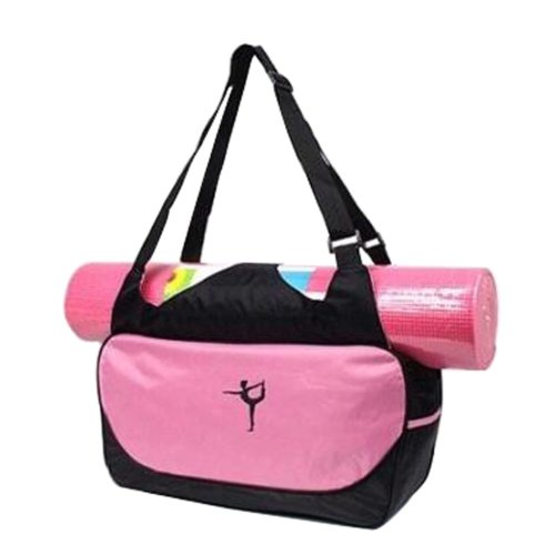 Multifunction Yoga Mat Tote Bag: Lightweight, Durable, Breathable Pouch[Pink]