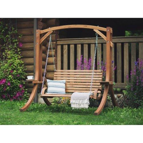 Wooden Garden Swing - Brown NOVARA