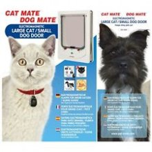 Electromagnetic Pet Flap Large Cat/small Dog White