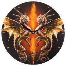Desert Dragon Wall Clock by Anne Stokes