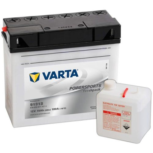 Varta Motorcycle Battery Powersports Freshpack 51913 / BMW
