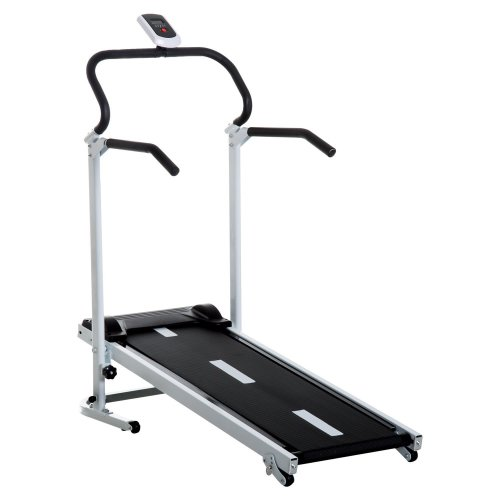 Homcom Folding, Manual Treadmill with LCD and 3 Incline Levels