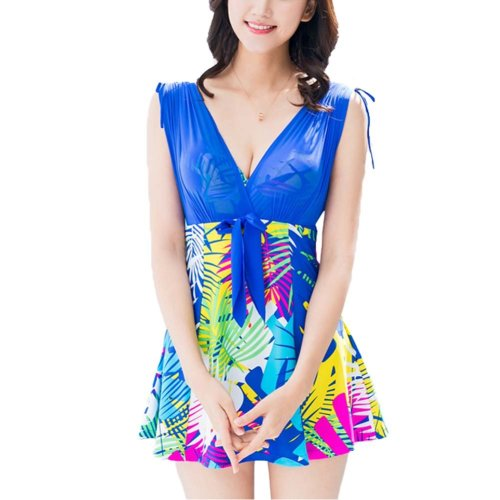 Summer Female Swimsuit Skirt Style Swimsuit Was Thin Cover Belly Big Yards