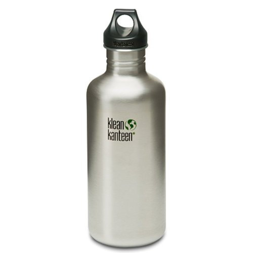 Klean Kanteen Classic 1182ml Water Bottle with Loop Cap (Brush Stainless)