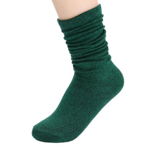 Knee-High Socks Fashion Crew Socks Soft Casual Socks Tube Socks-Green