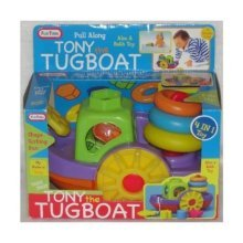 Tony the Pull Along Tugboat 4 in 1 Toy by funtime