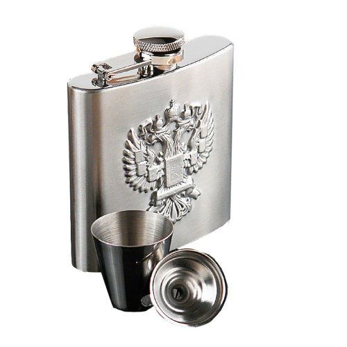 [Relief Eagle] Creative Hiking/Camping Stainless Steel Hip Flask , 6oz