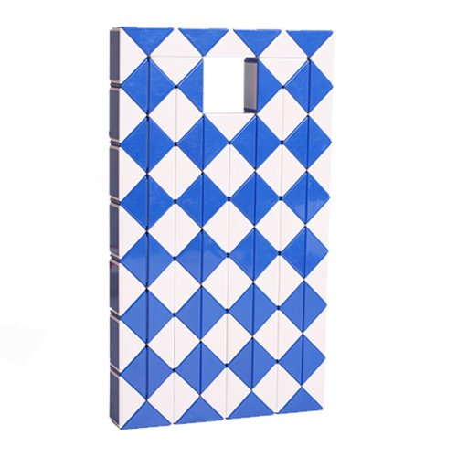 826b823629e77 MZStech Magic Snake Twist Puzzle Twisty Toy Collection 108 Wedges Magic  Ruler (Blue)