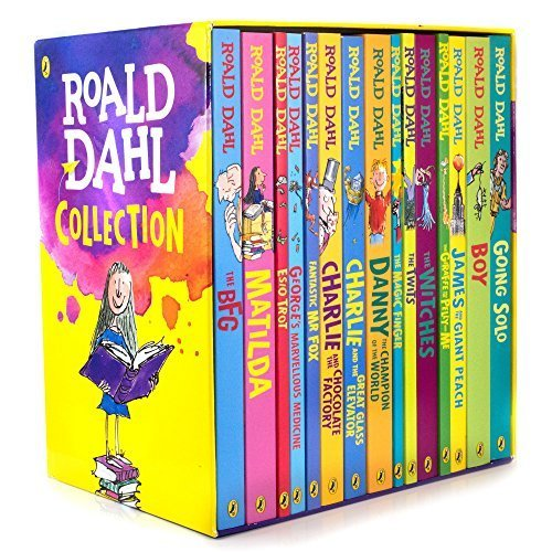 Roald Dahl: 15 books collection pack: The Witches, Matilda, The BFG, Going Solo, the Giraffe the Pelly and Me, The Magic Finger, James and the Gia...