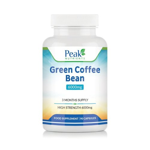 Green Coffee Bean Extract 6000mg, 90 Capsules (3 Months Supply), High Strength for Maximum Results, Weight Management Supplement - Manufactured in...