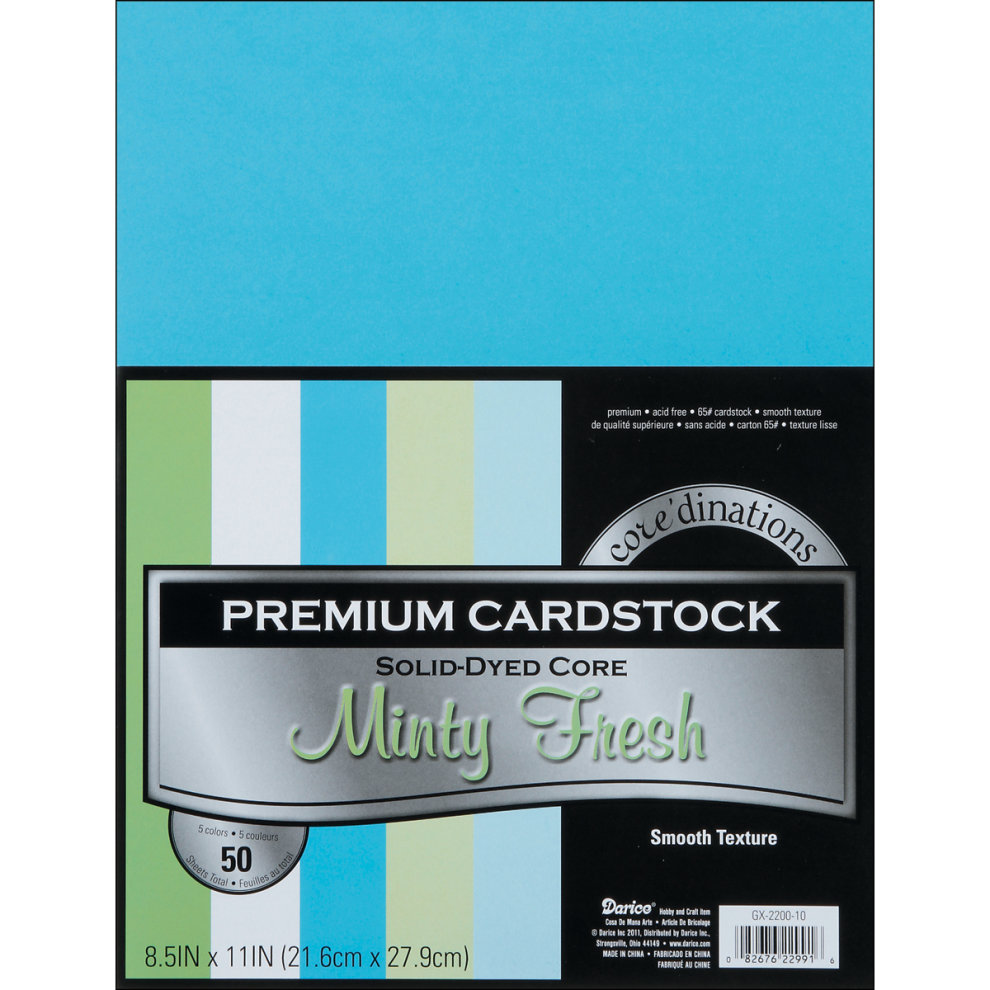 Assorted Pastel Cardstock Paper Pack 8.5x11 50 sheets