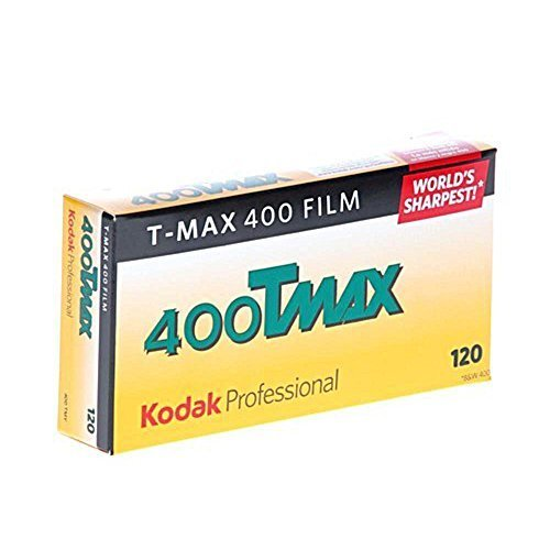 Kodak 856 8214 Professional 400 Tmax Black and White Negative Film 120 ISO 400 5 Roll Pack