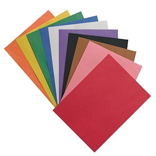 Pacon 18 x 24 Inches 58 Pound Construction Paper Assorted 50 Sheets per Pack PAC6517