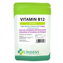 Lindens Vitamin B12 250mcg 100 Tablets High Potency 1-a-day Energy B 12 B-12