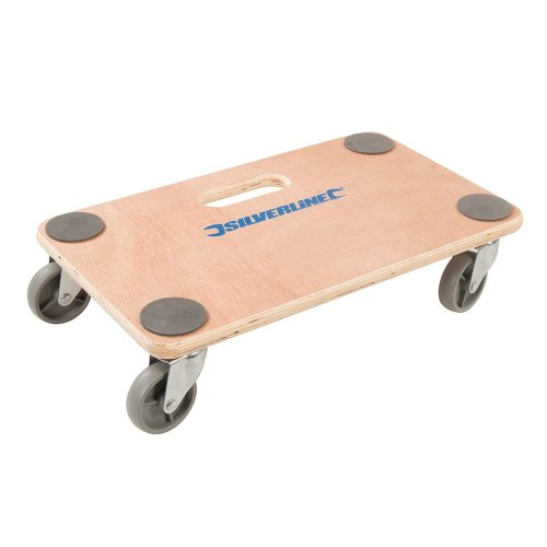Silverline Platform Dolly Trolley 150kg Wheeled Board Trolley Dollie