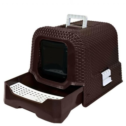 Rattan Effect Cat Litter Box Tray