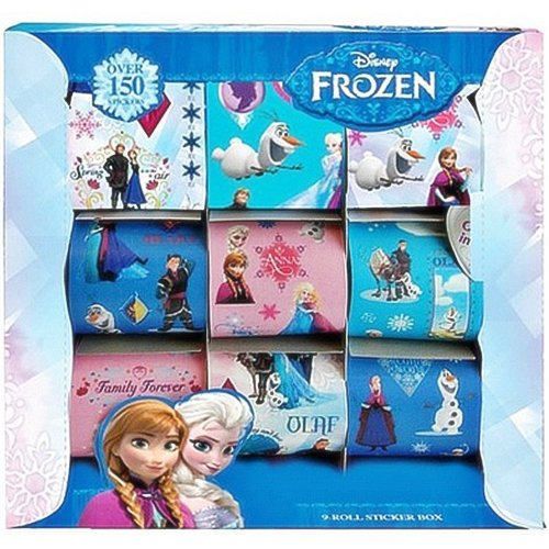 Officially Licensed | FROZEN | 9 Rolls of Stickers in a gift box