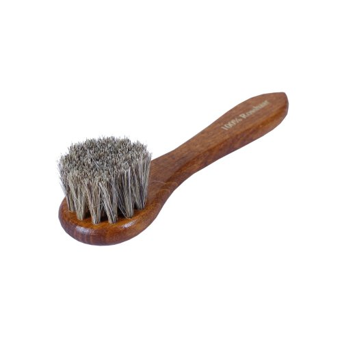 Kaps Shoe Polish Applicator Brush - Horsehair Bristles - Application Dauber for Leather Boots, Shoes & Bags - Travel & Home Shoe Care (horsehair...