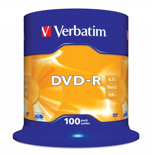 Verbatim DVD-R Matt Silver 4.7GB DVD-R 100pc(s)